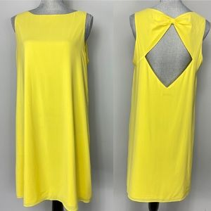 Alice and Olivia yellow open back summer dress